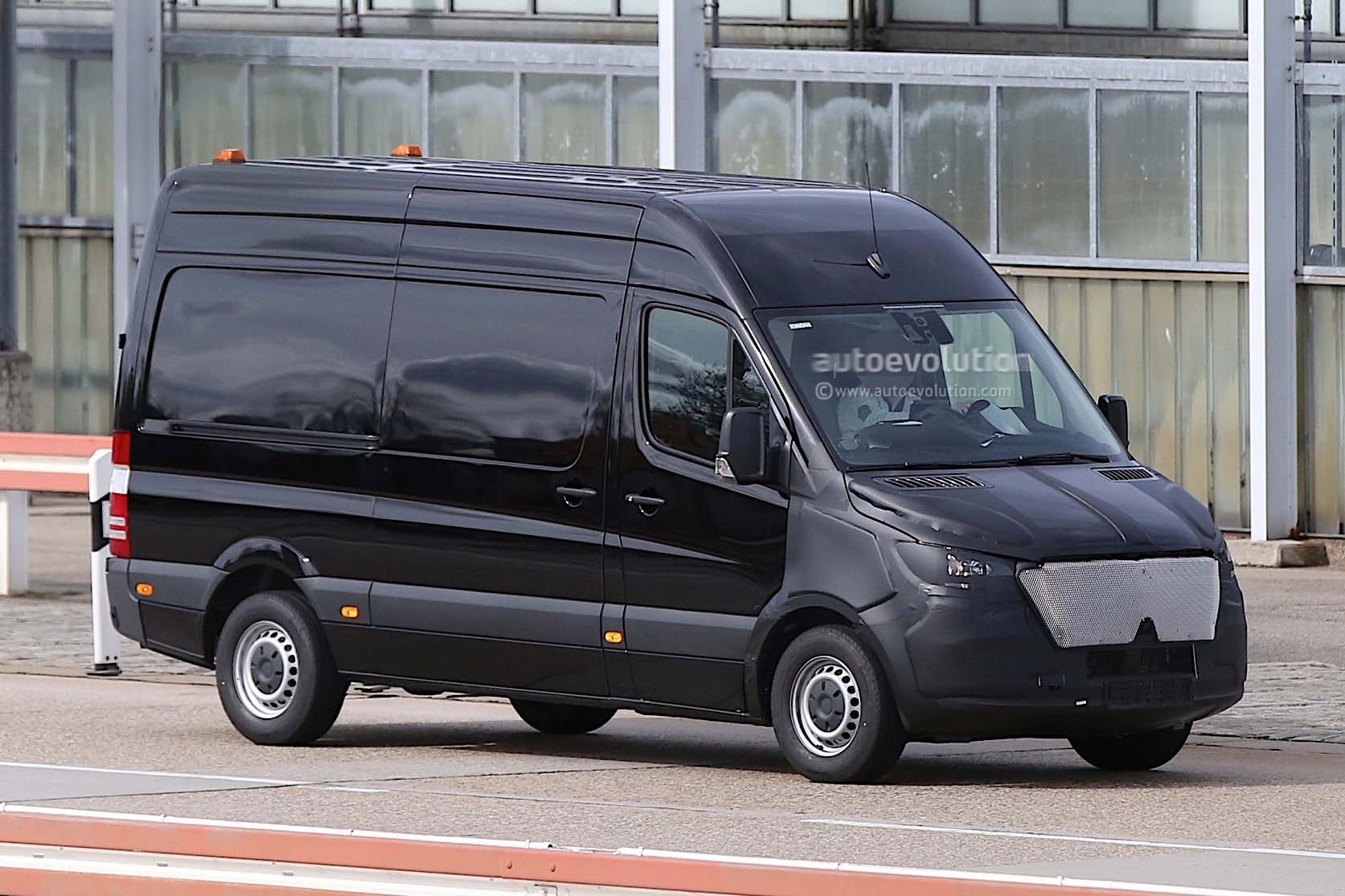 Mercedes Sprinter 2018 en phase d'essai