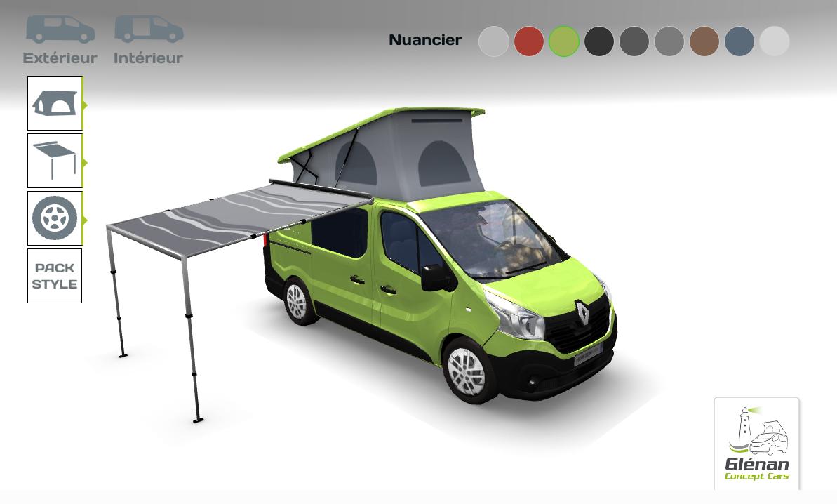 gl nan concept cars s offre un nouveau site internet quipements et accessoires camping car. Black Bedroom Furniture Sets. Home Design Ideas