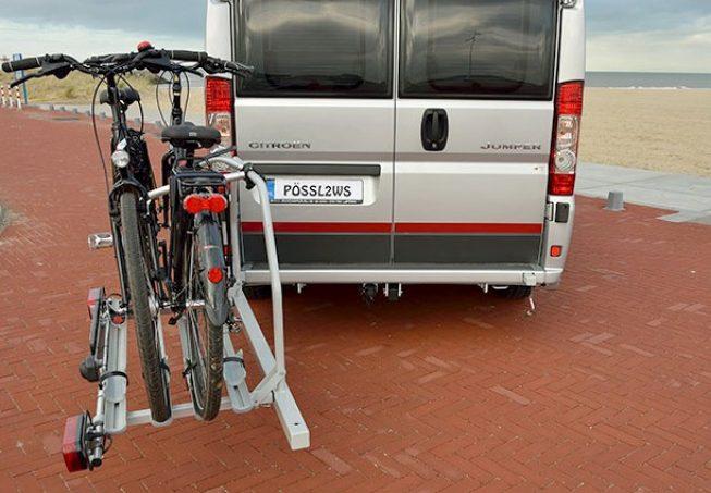 Porte v los pivotant busbiker xm250 pour fourgon quipements et accessoires camping car magazine - Porte velo electrique pour camping car ...