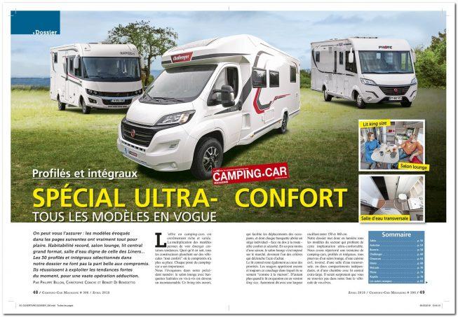 le camping car magazine n 306 d j en kiosque nos actus camping car magazine. Black Bedroom Furniture Sets. Home Design Ideas