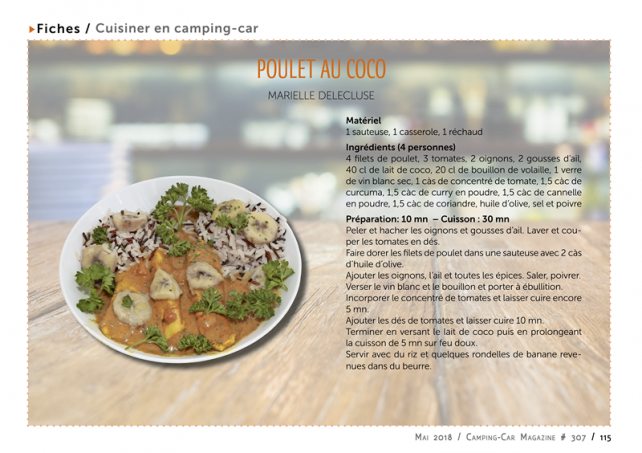 fiche cuisine - Cooking recipe: coconut chicken - Our news